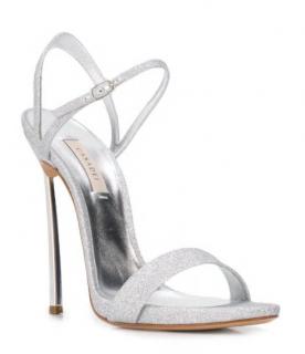 Casadei Blade V Celebrity Silver Sandals