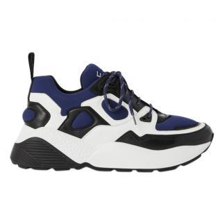 Stella McCartney White & Blue Eclypse Sneakers