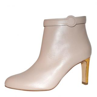 Rupert Sanderson Lavino 24K Gold Leather heeled Boots