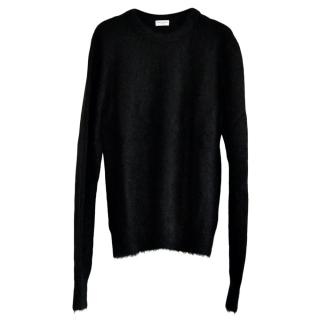 Saint Laurent black wool and mohair blend sweater