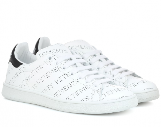 Vetements Perforated Logo Leather Low-top Trainers