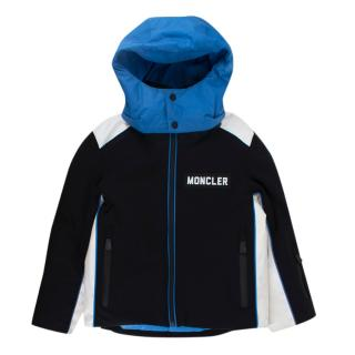 Moncler Enfant Black, White & Blue Ski Jacket