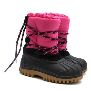 Moncler Kids Christie Boots in Pink