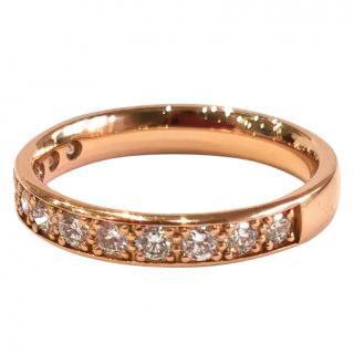Cred Bespoke 18ct Rose Gold Diamond Eternity Ring
