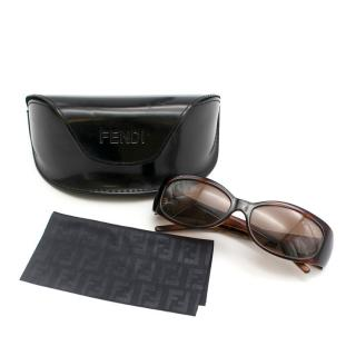 Fendi Vintage Brown Rectangle Sunglasses