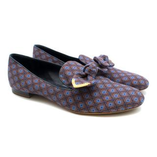 Louis Vuitton Jacquard Bow Detail Loafers