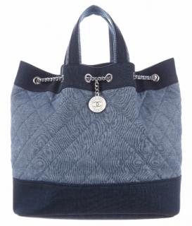 Chanel Denim Medallion Backpack