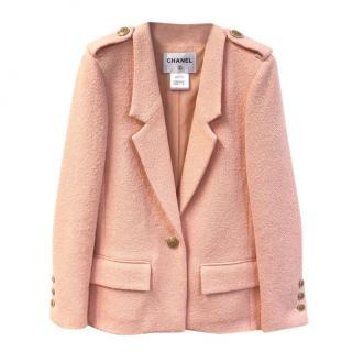Chanel Pink Tweed Seoul Collection Jacket