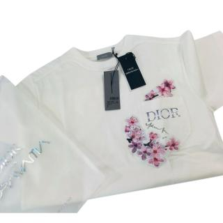 Dior x Sorayama Floral Print Kim Jones Autographed T-Shirt