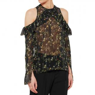 Preen By Thornton Bregazzi Silk Georgette Lera Blouse