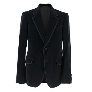 Gucci Men's Navy Velvet Blazer