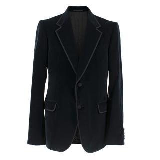 Gucci Men's Navy Velvet Blazer