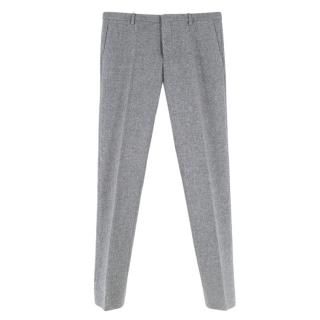 Jil Sander Grey Wool & Cashmere Blend Double Faced Pants