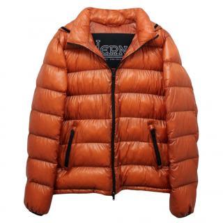 Herno Men's Orange Puffer Jacket
