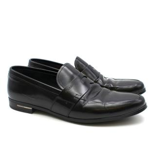 Prada Black Leather Loafers