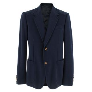 Gucci Navy Single Breasted Blazer