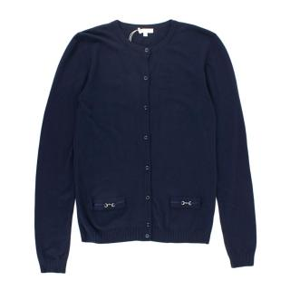 Gucci Girl's 12y Navy Cardigan