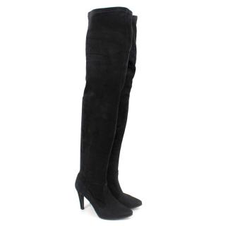 Fratelli Rossetti Black Suede Long Boots