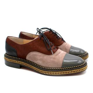 Christian Louboutin Calf Hair, Patent Leather and Suede Brogues