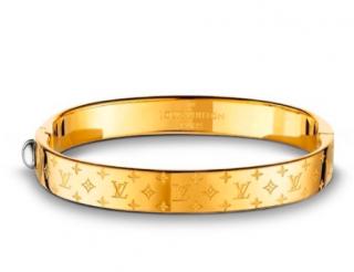 Louis Vuitton Gold Tone Nanogram Bracelet