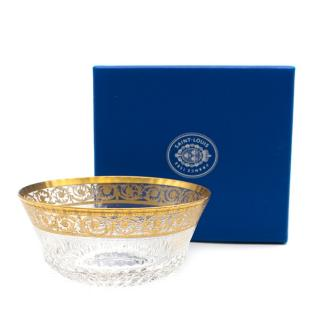 Saint Louis Gold Thistle Centre Piece Bowl