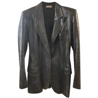 Yves Saint Laurent Vintage Black Python Jacket