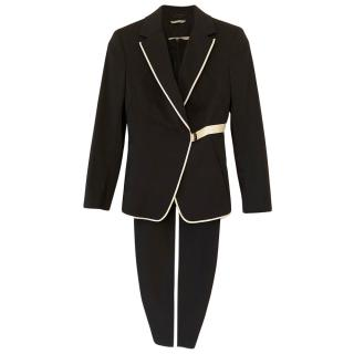 Sportmax Black & Ivory Tailored Dress & Jacket
