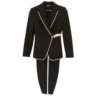 Sportmax Black & Ivory Tailored Dress & Jacket