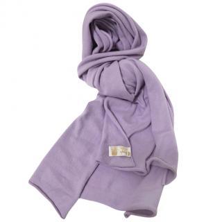 Pringle of Scotland Lilac Cashmere Blanket Scarf