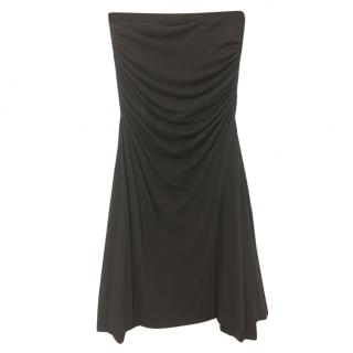 Rick Owens Lillies Fitted Ruched Skirt