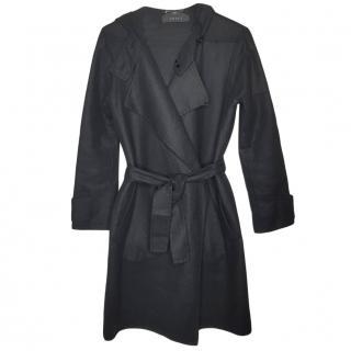 Gucci Black Cashmere Wrap Coat