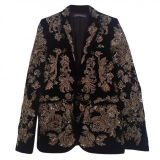 Ralph Lauren Velvet Embroidered Jacket