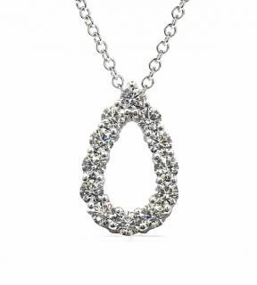 Bespoke Hearts on Fire Teardrop Pendant Necklace