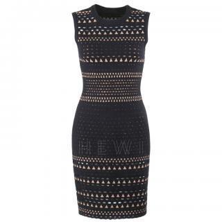 Alaia Black & Beige Knit Dress