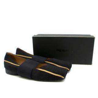 Uma Wang Black & Gold Ballerina Shoes