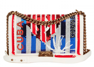 Chanel Embroidered Cuba Boy Bag