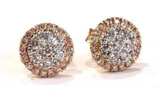 Cred ethical jeweller pave set diamond halo earrings