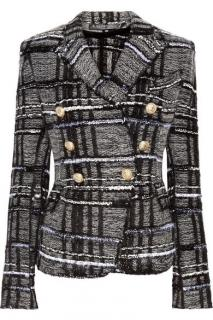 Balmain tweed double breasted blazer
