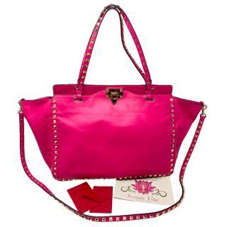 Valentino Pink Medium Rockstud Shoulder Bag