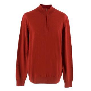 Hackett Zip Neck Wool Sweater