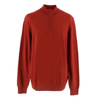 Hackett Zip Neck Wool Sweater