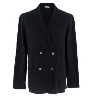 Cruciani Men's Navy Knit blazer