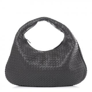 Bottega Veneta Grey Intrecciato Hobo Bag