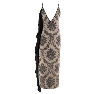 Uma Wang Deep V-neck Ruffled Slip Dress