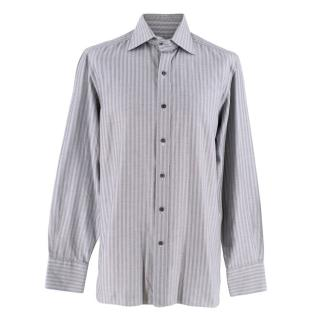 Tom Ford Grey High Collar Dress Shirt