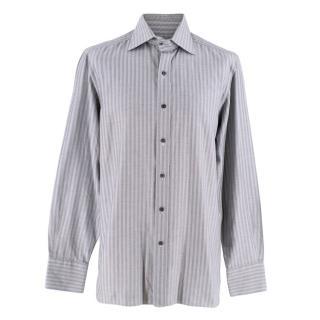 Tom Ford Grey High Collar Dress Shirt
