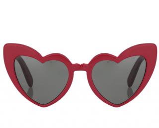 Saint Laurent Lou Lou Red Heart Shaped Sunglasses