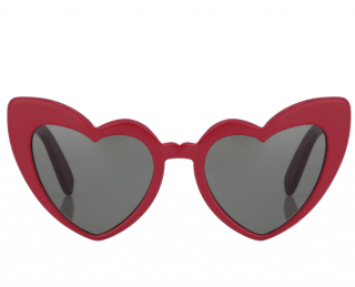 Saint Laurent Lou Lou Red Heart Shaped Sunglasses