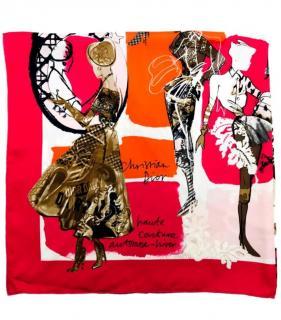Dior Multi-Coloured Printed Silk Scarf