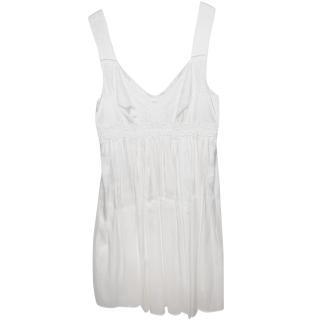 Dolce & Gabbana White Silk Mini Dress